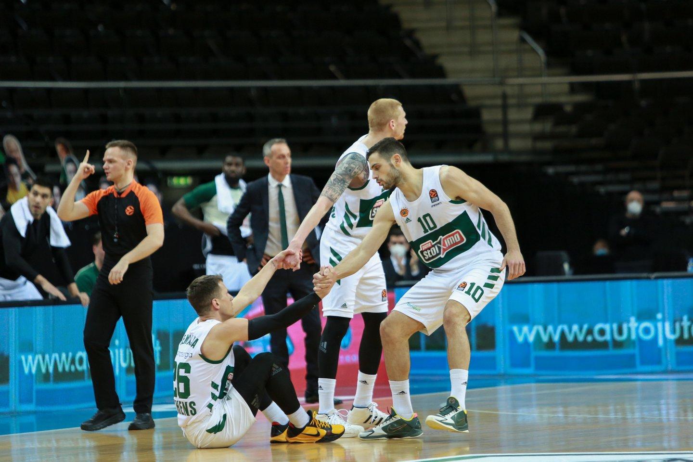 Kauno klubas pergalingai užbaigė Eurolygos sezoną.<br>G.Bitvinsko nuotr.