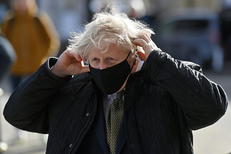 Jungtinės Karalystės ministras pirmininkas Borisas Johnsonas.<br>Reuters/Scanpix nuotr.