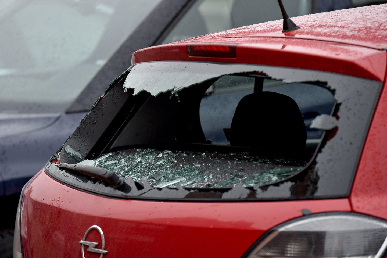 """Kėdainių rajono policijos komisariato pareigūnai ir jaunieji policijos rėmėjai Kėdainių mieste vykdė akciją """"Aš rūpinuosi automobilio ir asmeninių daiktų saugumu"""".<br>V.Ščiavinsko nuotr."""