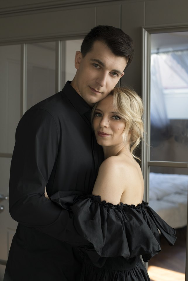 Simonas Storpirštis su žmona.<br>K. Aleksynaitės nuotr.