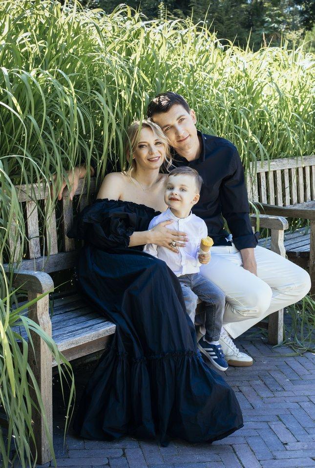 Simonas Storpirštis su šeima.<br>K. Aleksynaitės nuotr.