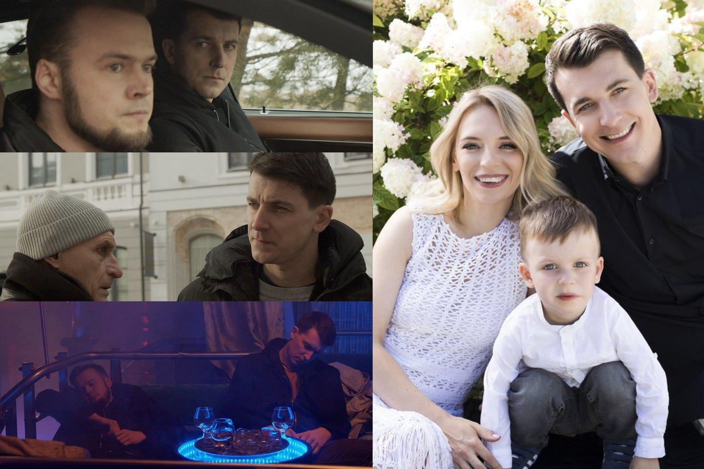 Aktorius S. Storpirštis – atvirai apie tėvystę, vaidmenis, pinigus ir šeimos pagausėjimą.<br>LR koliažas.