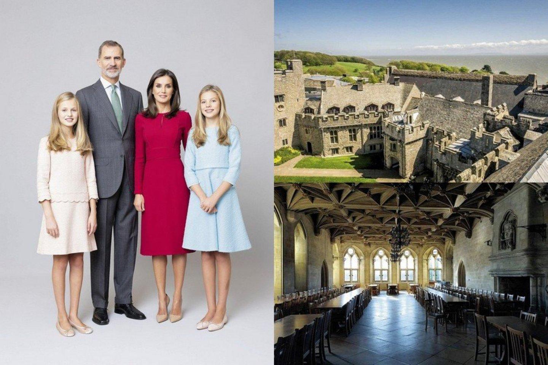 Ispanijos monarchų Felipe VI ir Letizios vyresnioji duktė Leonor (kairėje) persikels į Velsą, esantį 1200 kilometrų į šiaurę nuo karališkųjų rūmų Madride.<br>Scanpix ir instagramo nuotr.