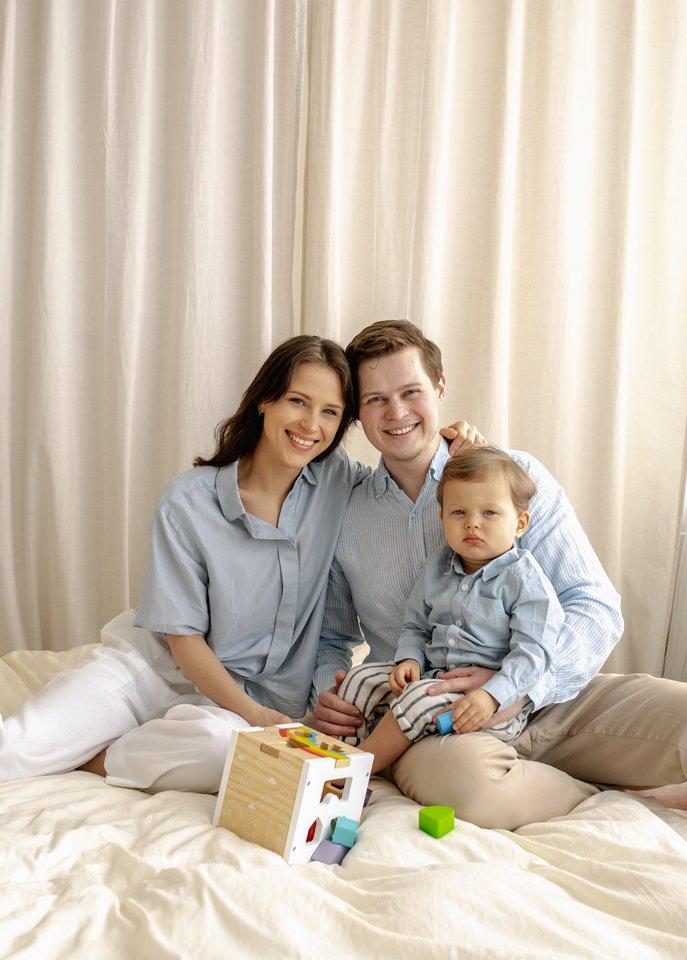 Verslo idėją pametėjo prieš pusantrų metų Aistei ir Laurynui gimęs sūnus Leonardas.<br>Asmeninio albumo nuotr.