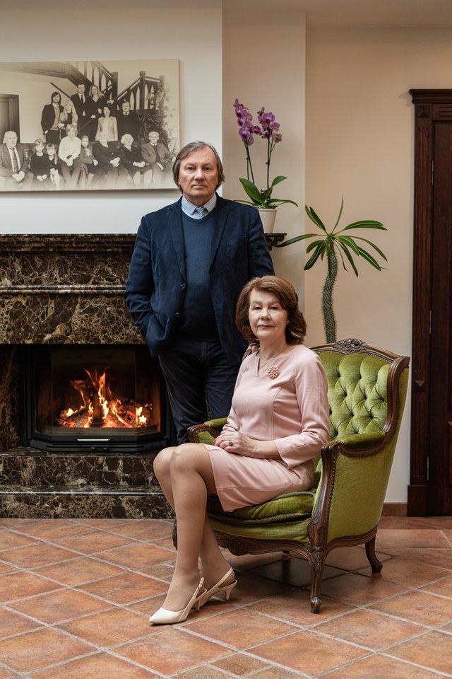 A.Tautkus su žmona.<br>Asmeninio albumo nuotr.