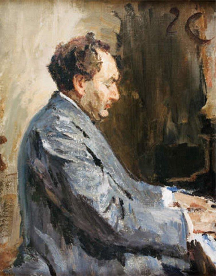 J.Ciąglińskis. Leopoldo Godovskio portretas. 1911 m.