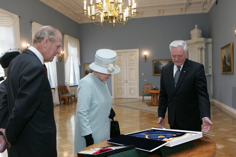 Ofilialaus karalienės Elizabeth II ir princo Philipo vizito Lietuvoje akimirkos. 2006-ieji.<br>Lietuvos Respublikos Prezidento kanceliarijos (Dž.Barysaitės) nuotr.