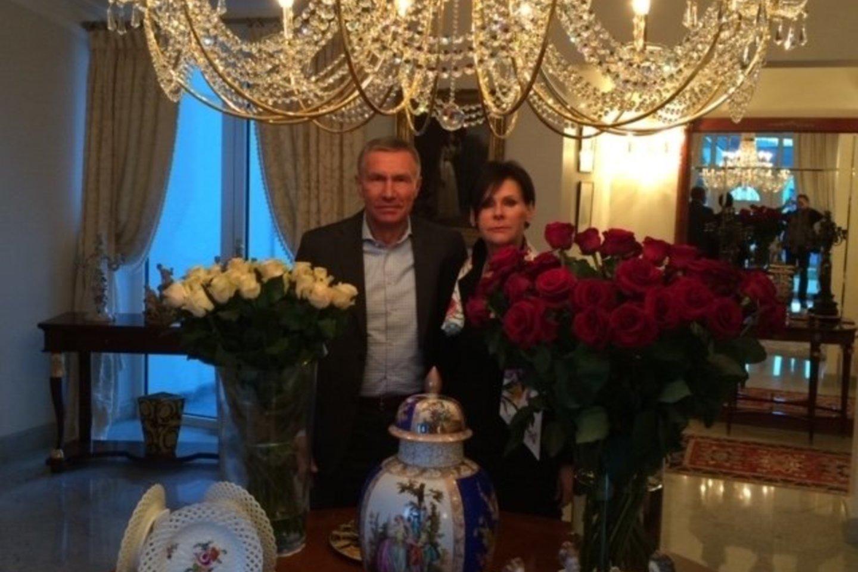 R.Karpavičius su pirmąja žmona Audrone gyveno iki pat 2018 metų lapkričio.<br>Asmeninio albumo nuotr.