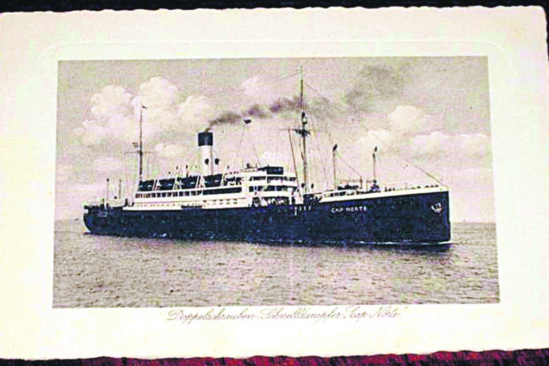 Emigrantų šeima išsaugojo laivo, kuriuo pasiekė Ameriką, nuotrauką.<br>Asmeninio archyvo nuotr.