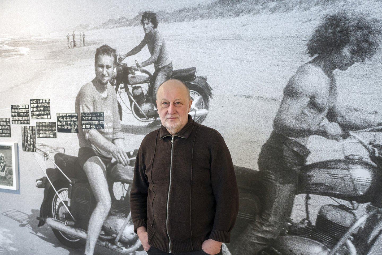 """Fotomenininkui R.Požerskiui paroda """"Neramūs keliautojai"""" – tarsi laiko mašina, nukelianti į audringą jaunystę.<br>Asmeninio archyvo nuotr."""