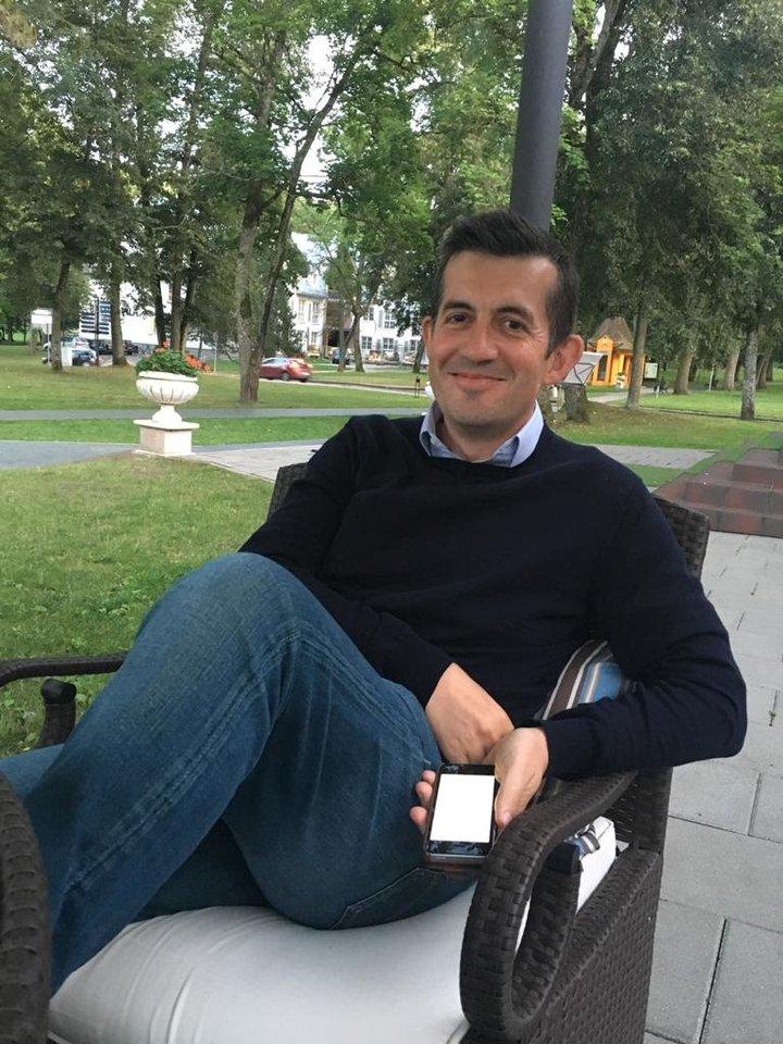 R.K.Saltersas gyvena Lietuvoje.<br>Nuotr. iš asmeninio archyvo