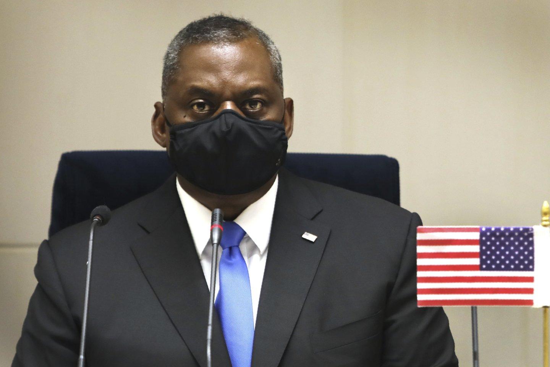 JAV gynybos sekretorius Lloydas Austinas.<br>AP/Scanpix nuotr.