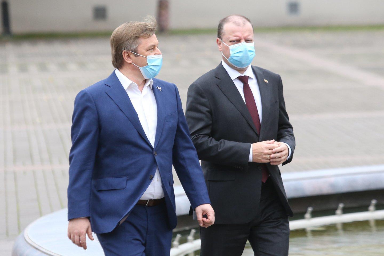 R.Karbauskis ir S.Skvernelis.<br>R.Danisevičiaus nuotr.