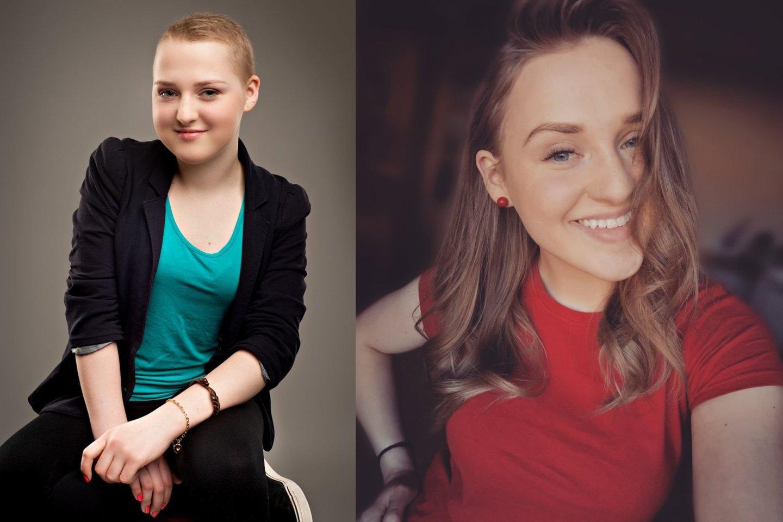 Evelina prieš kelis metus (kairėje) ir dabar.<br>Asmeninio archyvo nuotr.