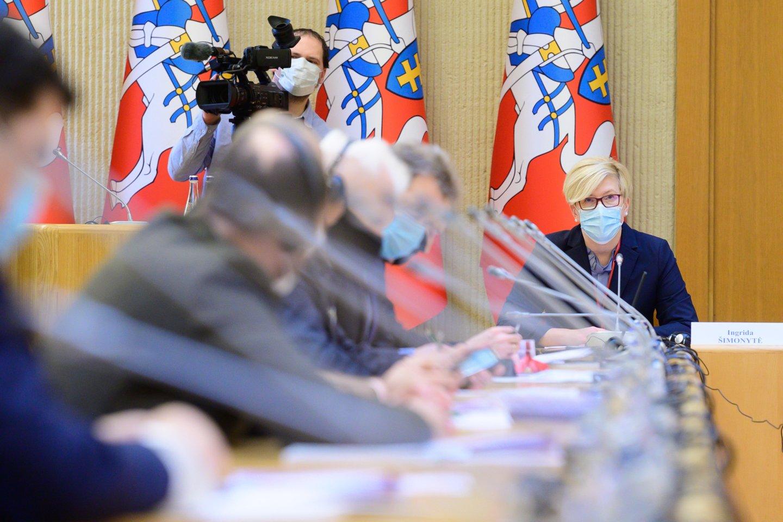 Ministrė pirmininkė tikino esanti jau ne kartą nudegusi, kai per anksti pasidalinti planai traktuojami kaip jau įvykę sprendimai.<br>V.Skaraičio nuotr.