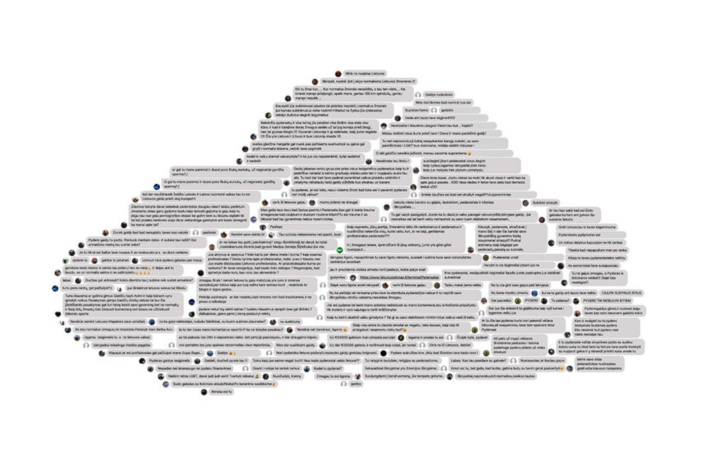 """Dienos šviesą išvydo pirmasis lietuviškas NFT technologijos pagrindu sukurtas meno kūrinys """"Neapykantos debesis""""."""