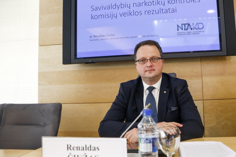 Narkotikų, tabako ir alkoholio kontrolės departamento direktorius prof. dr. Renaldas Čiužas.<br>M.Morkevičiaus/ELTA nuotr.