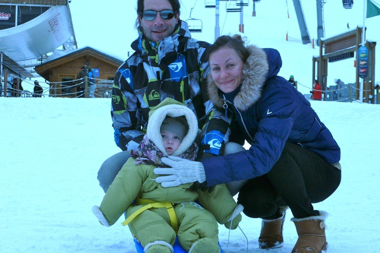 Renata su Francku susilaukė pametinukų Leo ir Luizos.<br>Nuotr. iš asmeninio albumo