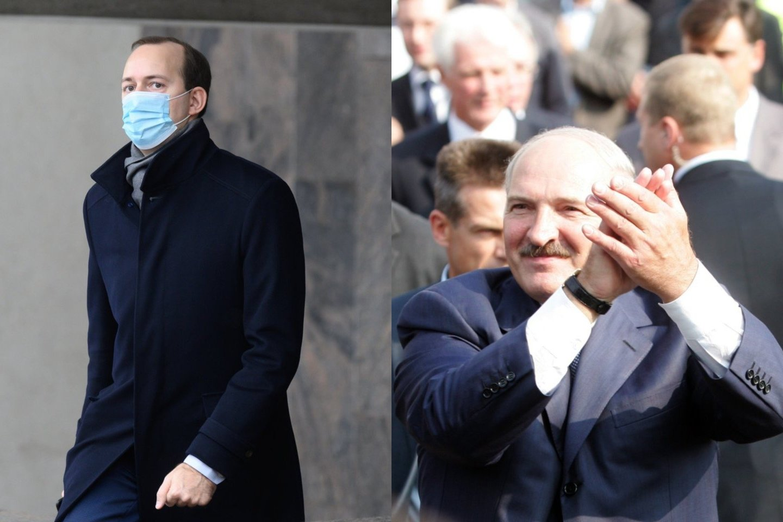 M.Skuodis ir A.Lukašenka.<br>Lrytas.lt fotomontažas.