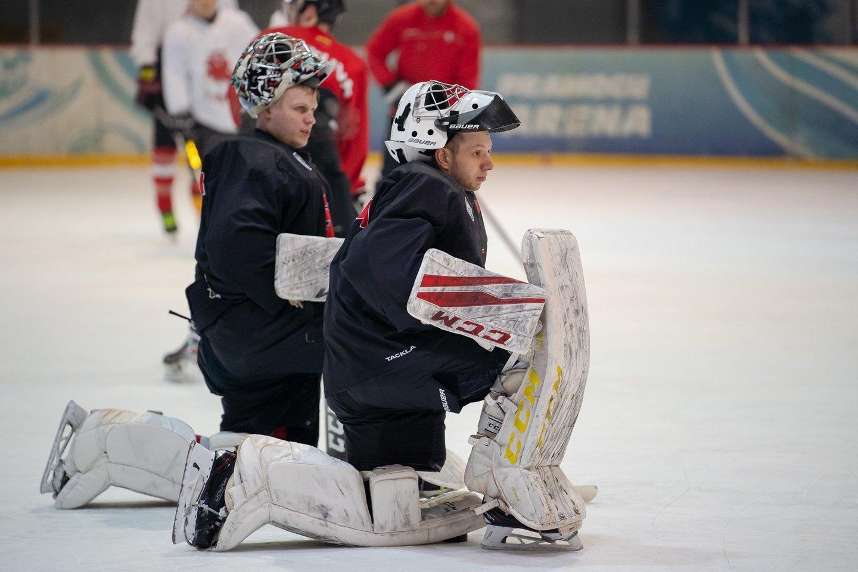 Į Lenkiją lietuviai vyksta su jaunatviška sudėtimi ir būriu debiutantų.<br>Hockey.lt nuotr.
