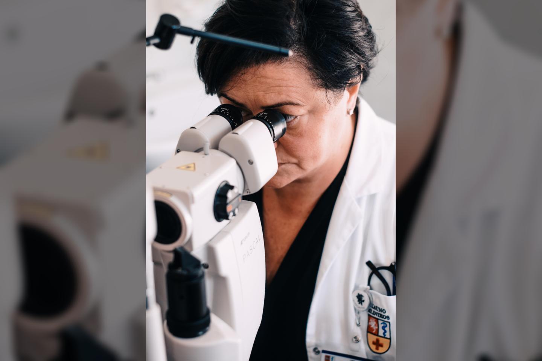 Gydytoja oftalmologė doc. Vilma Jūratė Balčiūnienė<br>Pranešimo spaudai nuotr.