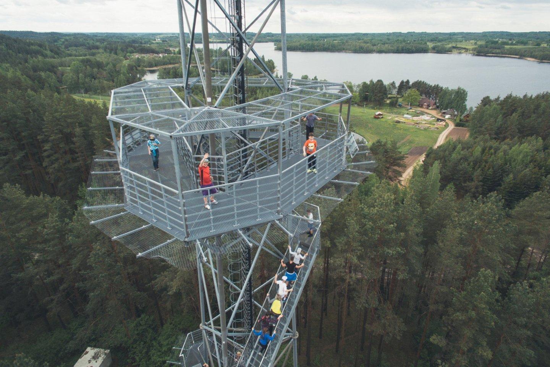 Ginučių apžvalgos bokštas.<br>D.Cicėno/Ignalinos rajono turizmo informacijos centro nuotr.