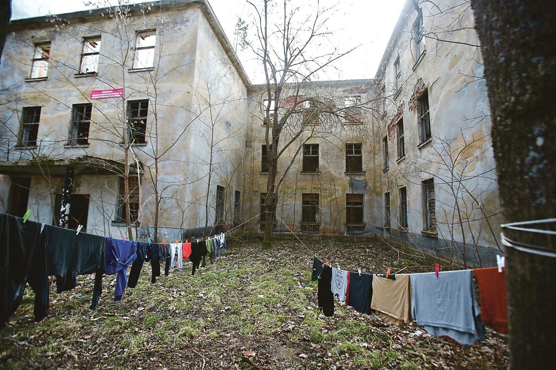 Dalis komplekso pastatų visiškai apleisti, kasmet jų konstrukcijos vis prastėja.