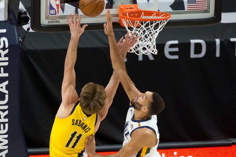 """D.Sabonis su """"Pacers"""" neįveikė lygos lyderių.<br>USA TODAY Sports/Scanpix nuotr."""