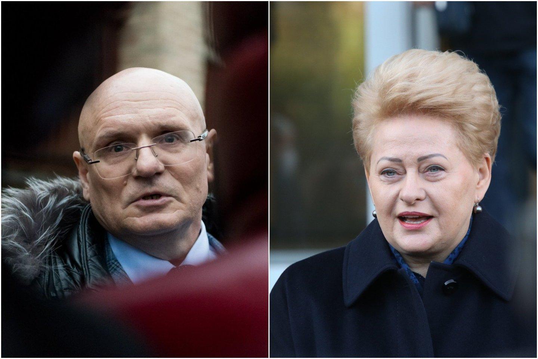 """""""Turbūt neįtiko ne atskiri teisėjai, o pati teismų sistema. Tuometė prezidentė D.Grybauskaitė savo vadovavimą pradėjo pakeitusi visų jėgos struktūrų vadovus"""", – V.Kažys.<br>lrytas.lt koliažas."""