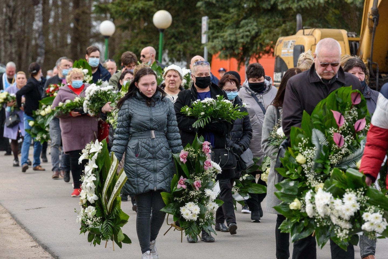 E.Ostapenko laidotuvės.<br>A. Kubaičio nuotr.