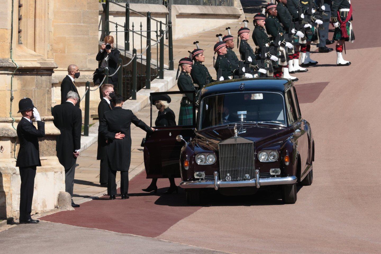 Princo Philipo laidotuvių akimirkos.<br>Scanpix/RS nuotr.