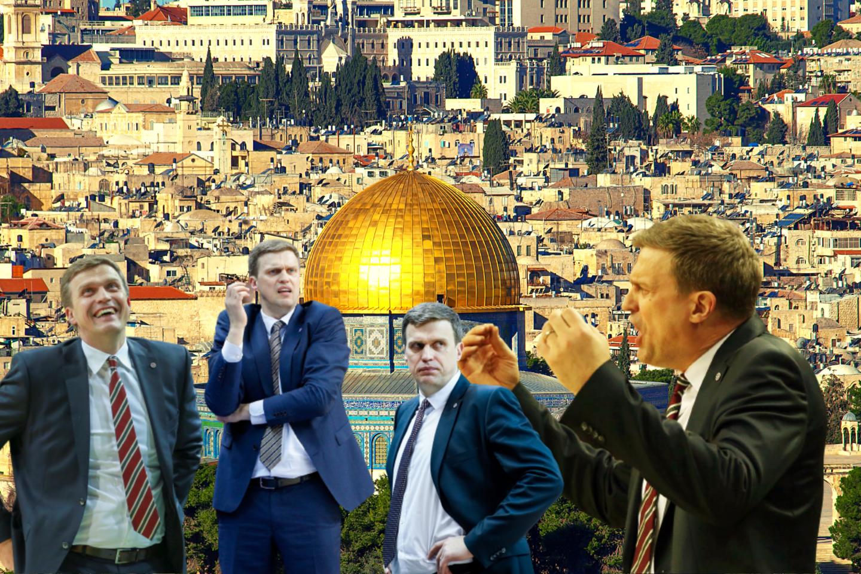 D.Adomaičio kelias Jeruzalėje buvo trumpas ir duobėtas.<br>lrytas.lt montažas.