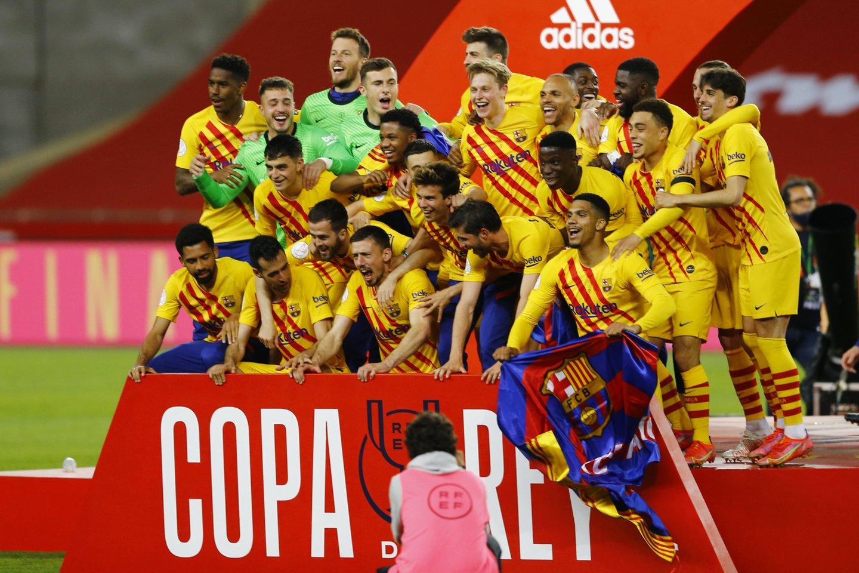 """Barcelona"" laimėjo Karaliaus taurę.<br>Reuters/Scanpix nuotr."