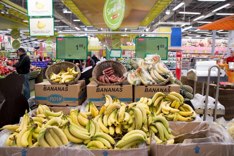 Bananai – vieni mėgstamiausių lietuvių vaisių.<br>V.Ščiavinsko nuotr.