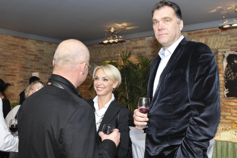 A.Sabonis su žmona Ingrida ir K.Vitkus 2011-aisiais.<br>V.Ščiavinsko nuotr.