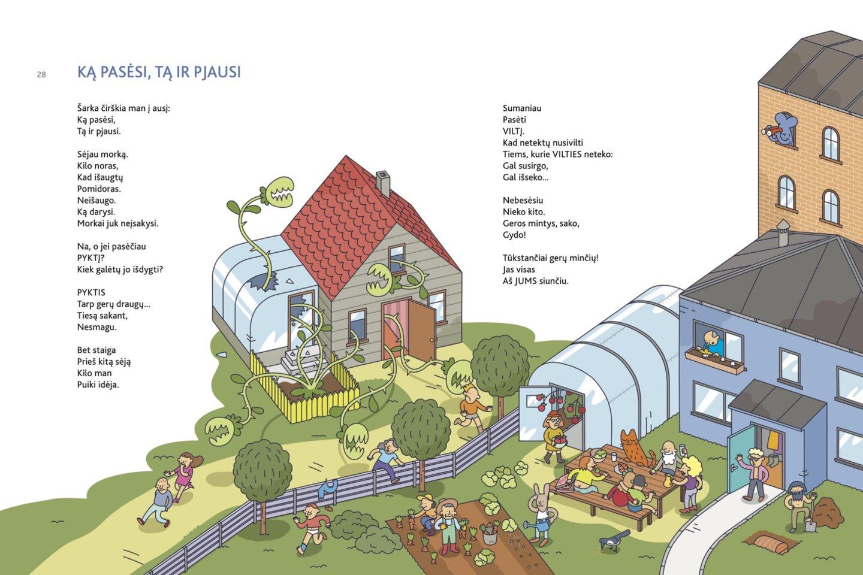 """Violeta Palčinskaitė eilėraščių knygoje """"Bala nematė"""" išplėtoja 22 gerai žinomas patarles, paversdama jas puikiomis literatūrinėmis miniatiūromis. Iliustracijas knygai kūrė dailininkas Simonas Kvintas.<br>""""Tyto alba"""" nuotr."""