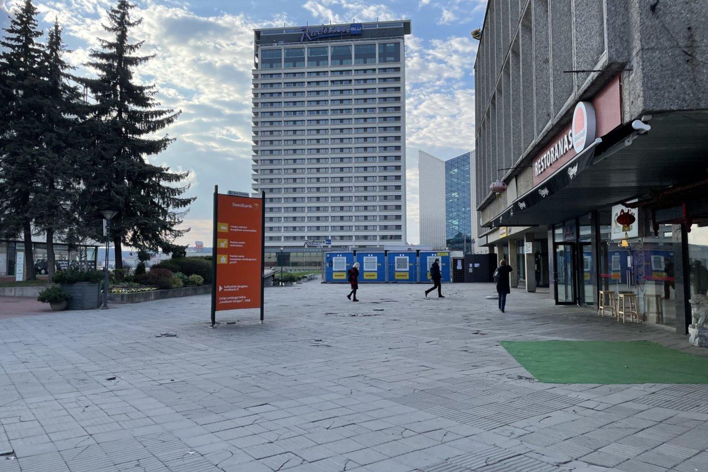 Erdvė šalia prekybos centro CUP jau netrukus bus sutvarkyta.<br>www.madeinvilnius.lt nuotr.