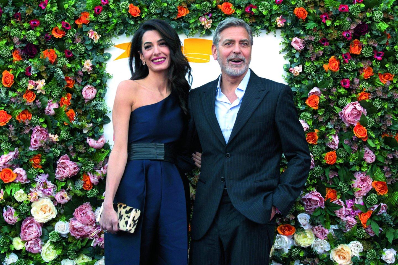"George'as ir Amal Clooney.<br>PA / ""Scanpix"" nuotr."
