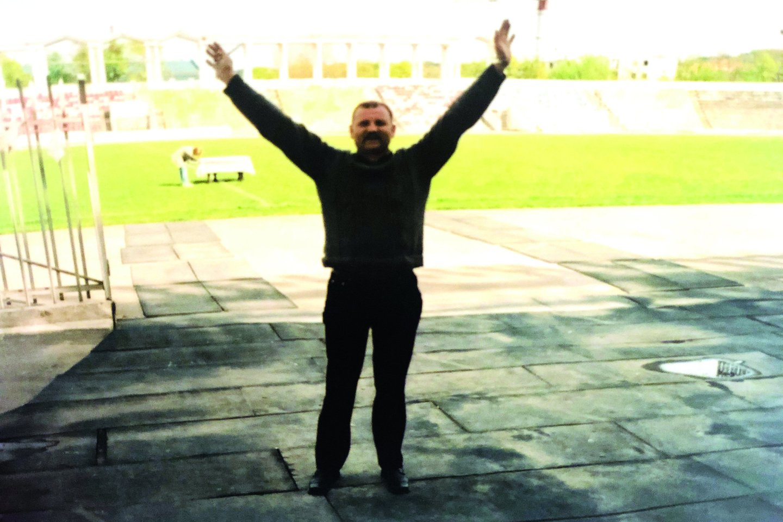 """Legendinis """"Žalgirio"""" stadiono direktorius J.Grigas degė aistra viskam, ką darė, nors turėjo nepaprastai daug veiklos.<br>Nuotr. iš asmeninio albumo"""
