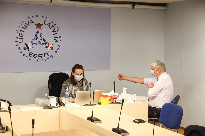 Ketvirtadienį parlamente organizuojamas COVID-19 antikūnų testavimas.<br>R.Danisevičiaus nuotr.