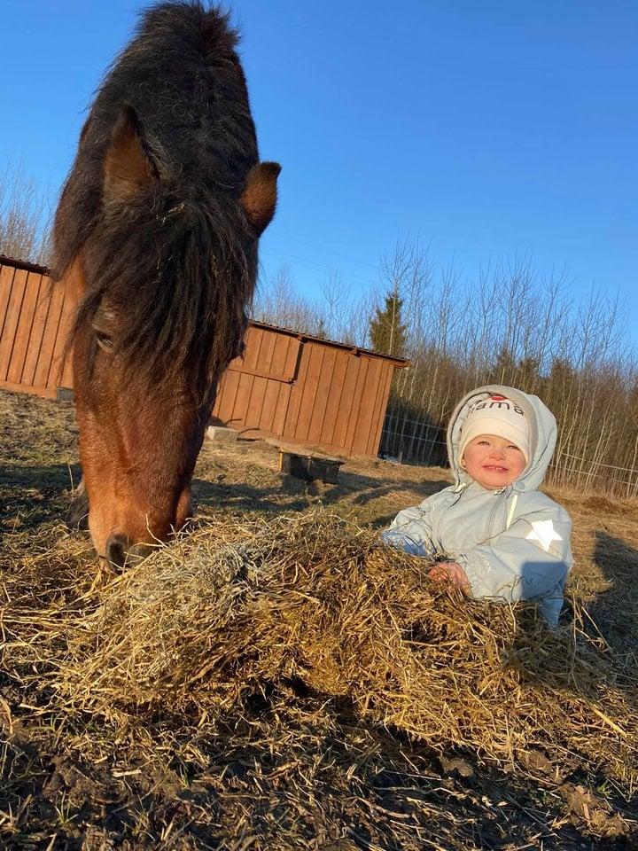 Metinukė dukrytė Erika taip pat labai mėgsta gyvūnus.<br>Asmeninio albumo nuotr.