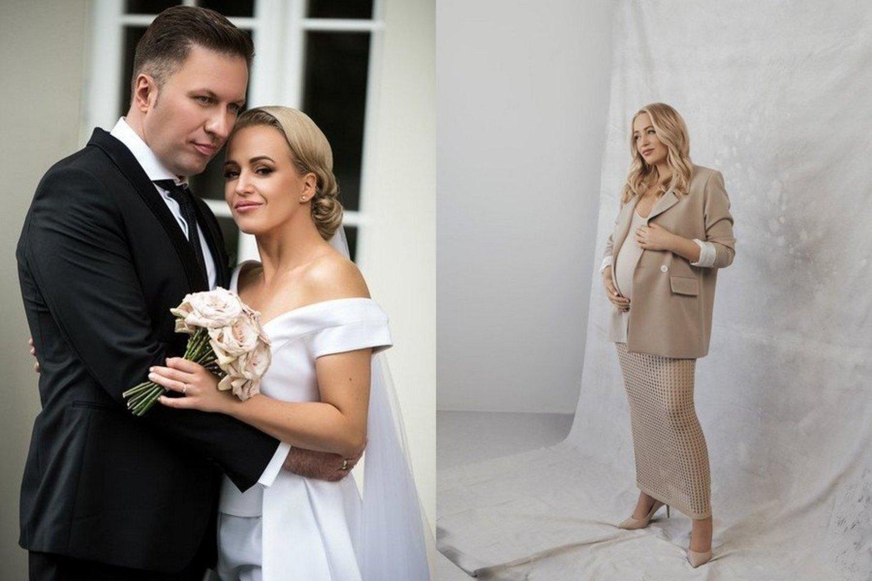Elena Puidokaitė-Bruzgulienė su vyru Tadu Bruzguliu sulaukė šeimos pagausėjimo.<br>D.Kučio ir D.Ščiukos nuotr.