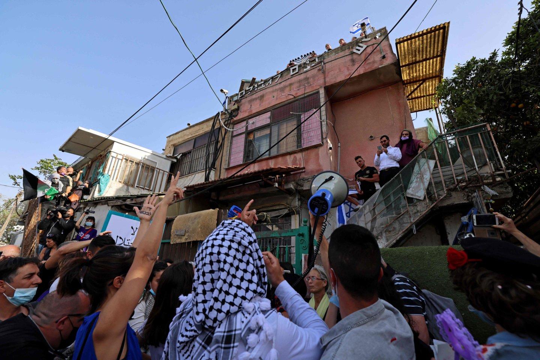 Neramumai aneksuotoje Rytų Jeruzalėje.<br>AFP/Scanpix nuotr.