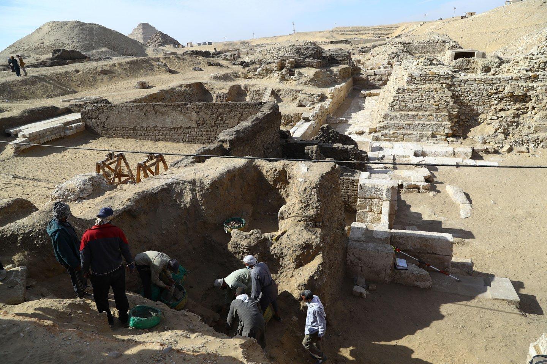 Archeologai atrado užrašus, rodančius, kad šventykla, kurią jie atkasė, priklausė anksčiau nežinotai senovinei karalienei.<br>Sipapress / Scanpix nuotr.