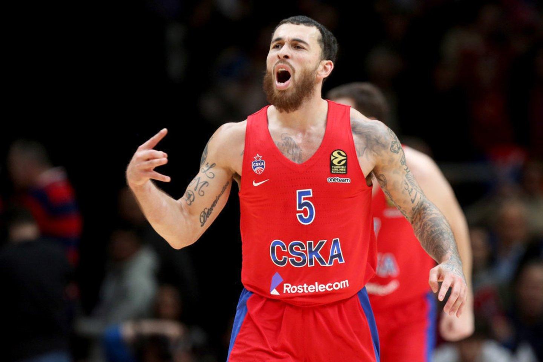 Mike'as Jamesas paliko CSKA klubą.<br>Twitter nuotr.
