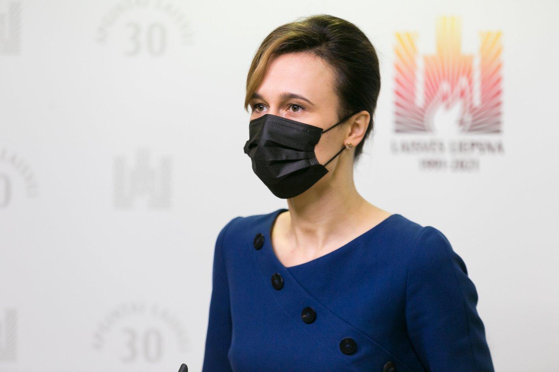 Seimo pirmininkė Viktorija Čmilytė-Nielsen.<br>T.Bauro nuotr.