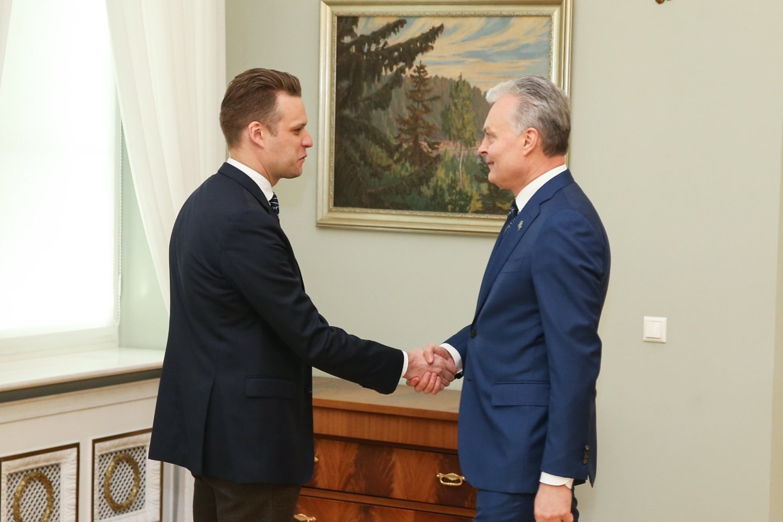 G.Landsbergis ir G.Nausėda.<br>R.Danisevičiaus nuotr.