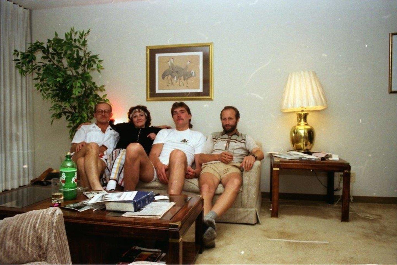 K.Vitkus (kairėje) kartu su A.Saboniu vyko į JAV.<br>VitkusClinic nuotr.