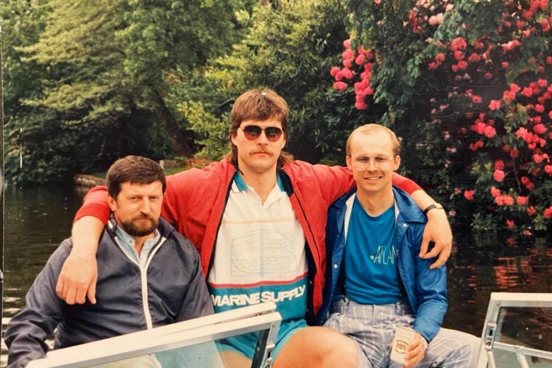 K.Vitkus (dešinėje) kartu su A.Saboniu vyko į JAV.<br>VitkusClinic nuotr.