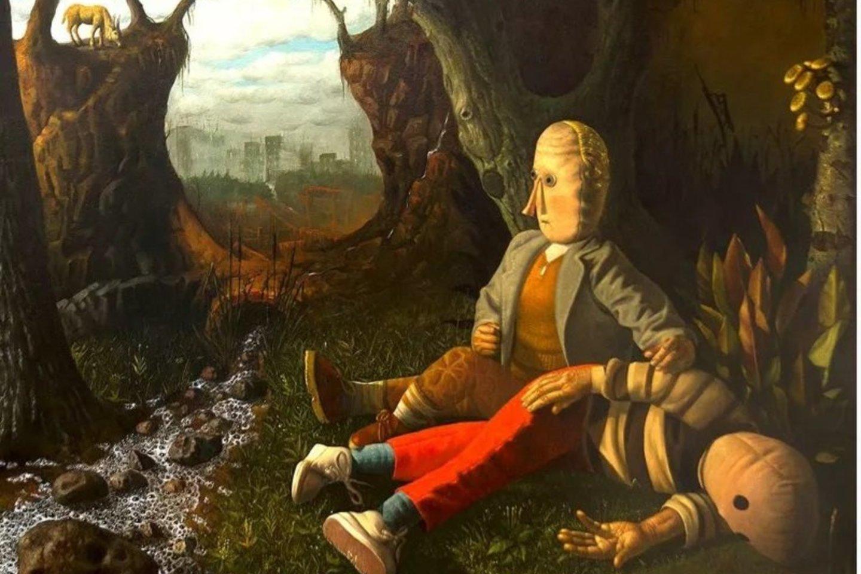 """Šiuos savo kūrinius prieš keletą metų R.Petrauskas eksponavo jungtinėje trijų autorių parodoje """"Kaleidoskopas"""" Panevėžio dailės galerijoje.<br>Panskliautas.lt nuotr."""